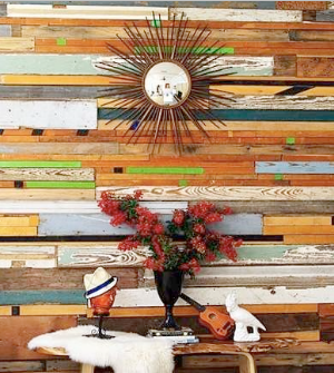 Wooden Wall Mosaic