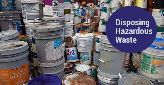 Hazardous Waste Disposal Tips