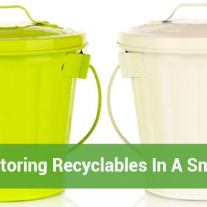 Storing Recyclables In A Small Space