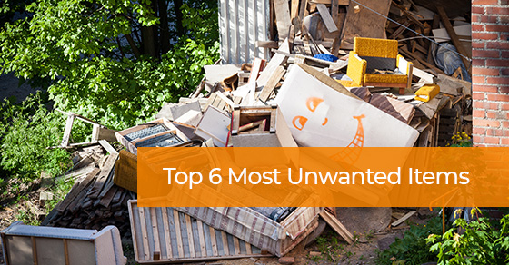Top 6 Most Unwanted Items