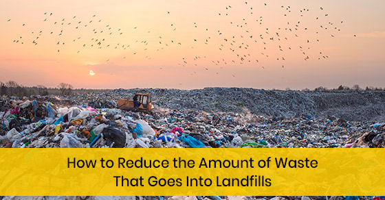 How to reduce the amount of waste that goes into landfills?