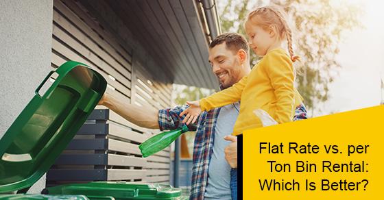 Flat rate vs. Per ton bin rental: Which is better?