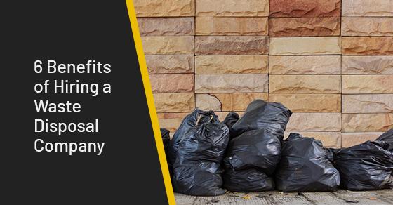 Benefits of hiring a waste disposal company