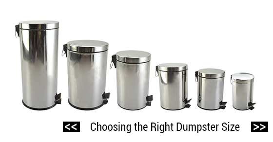 Choosing The Right Dumpster Size