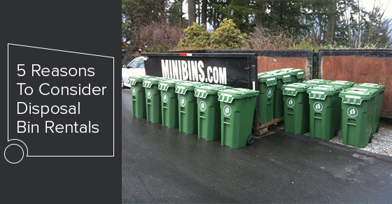 5 Reasons To Consider Disposal Bin Rentals