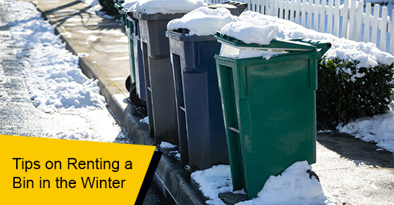 Tips on renting a bin in the winter